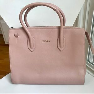 Furla Pin Tote/Satchel - light pink leather -small